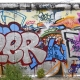 Graffiti Berlin Wall Back