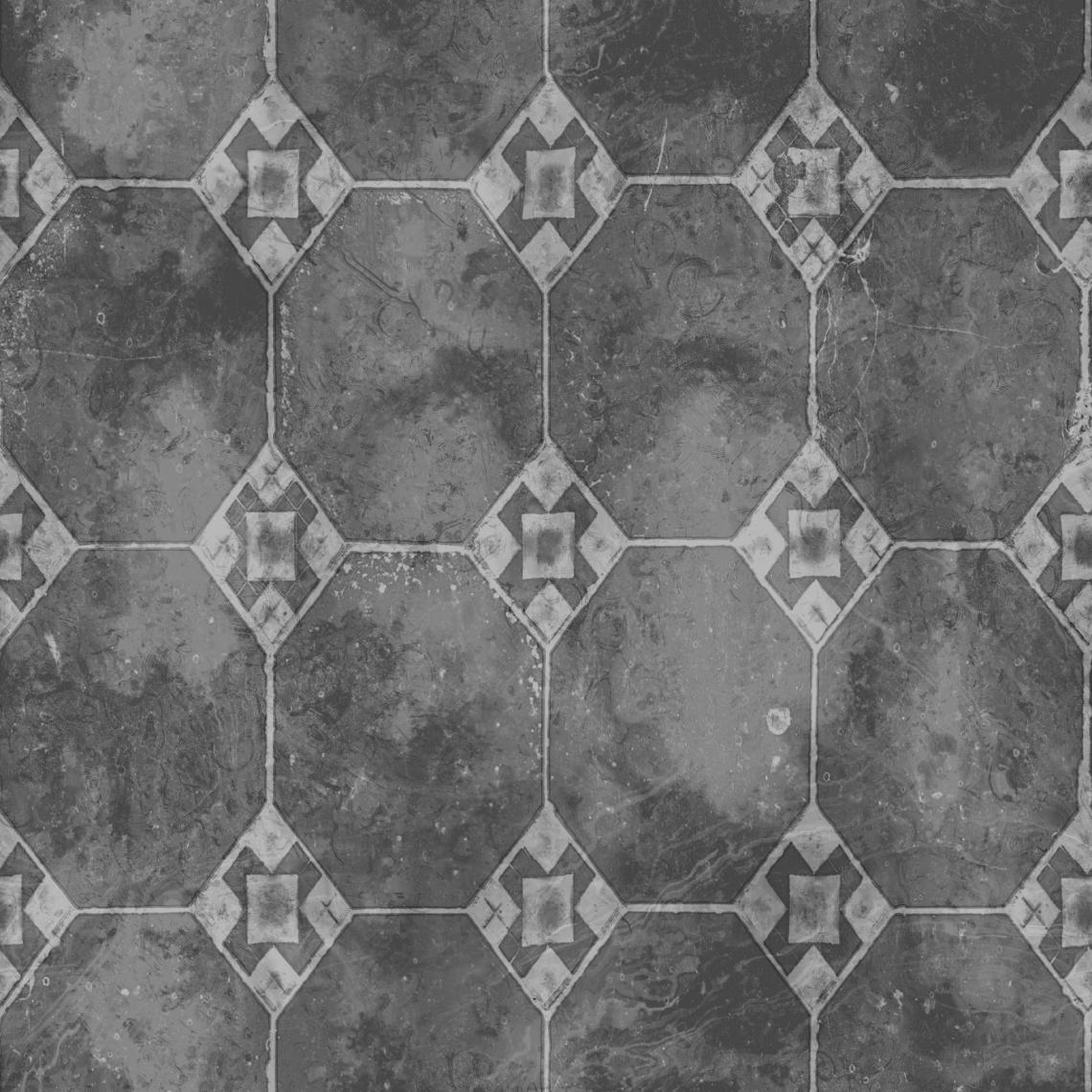 Ornate-Tiles-02-Roughness - Seamless