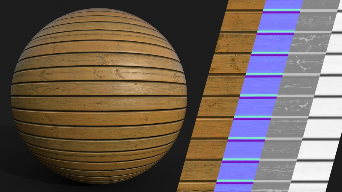 PBR-Planks-Wooden-03-Cover - Seamless