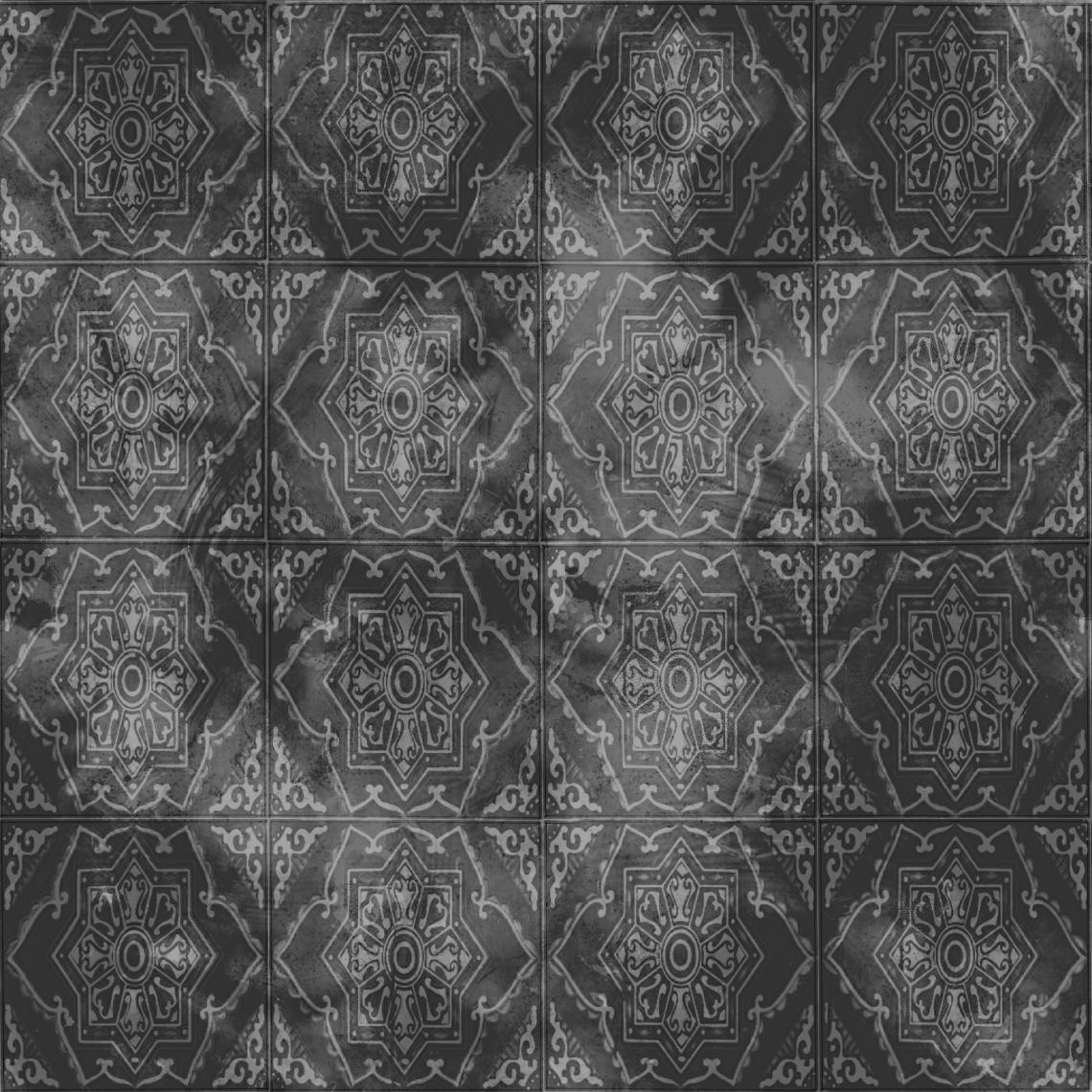 Ornate-Tiles-01-Roughness - Seamless