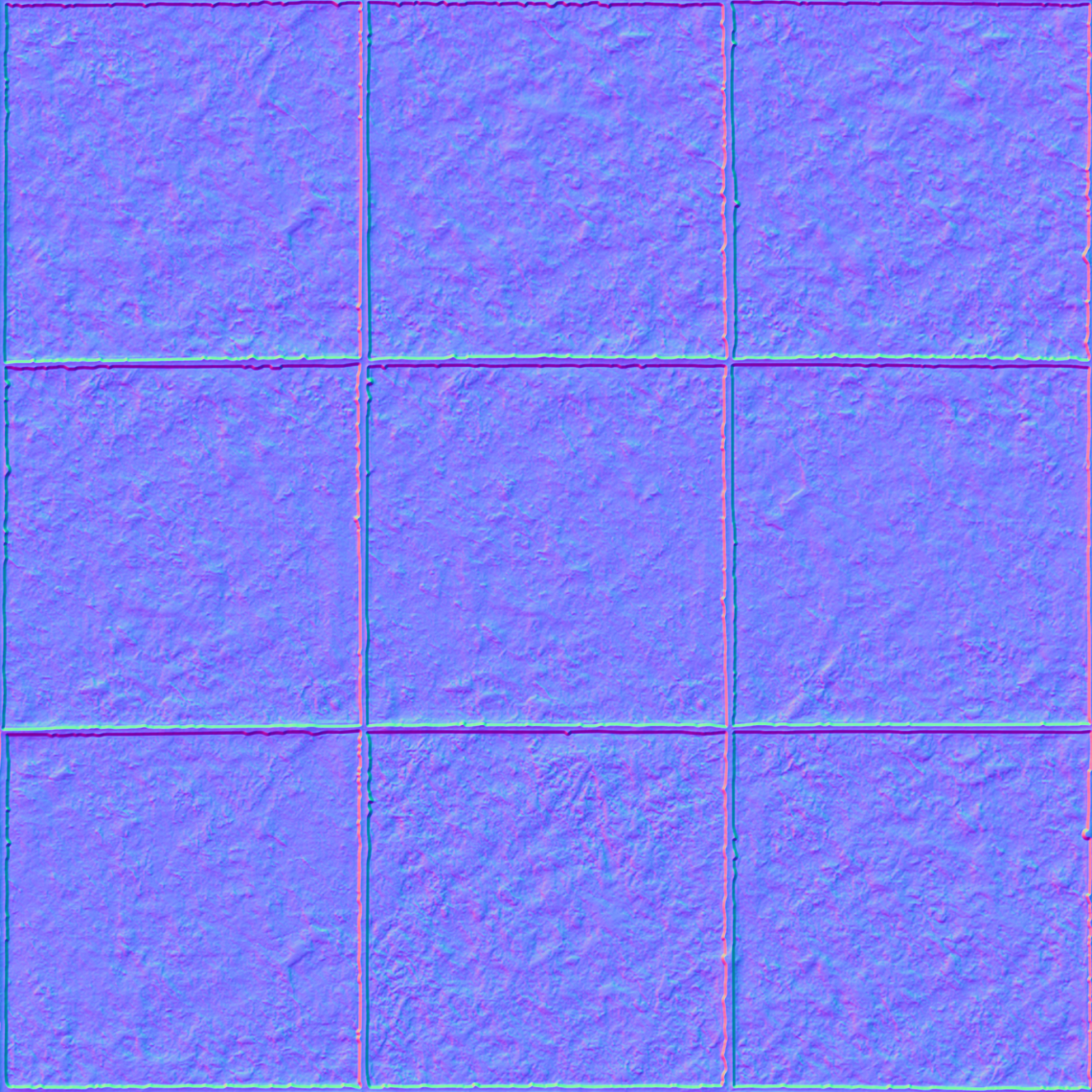 Green-Tiles-01-Normal - Seamless