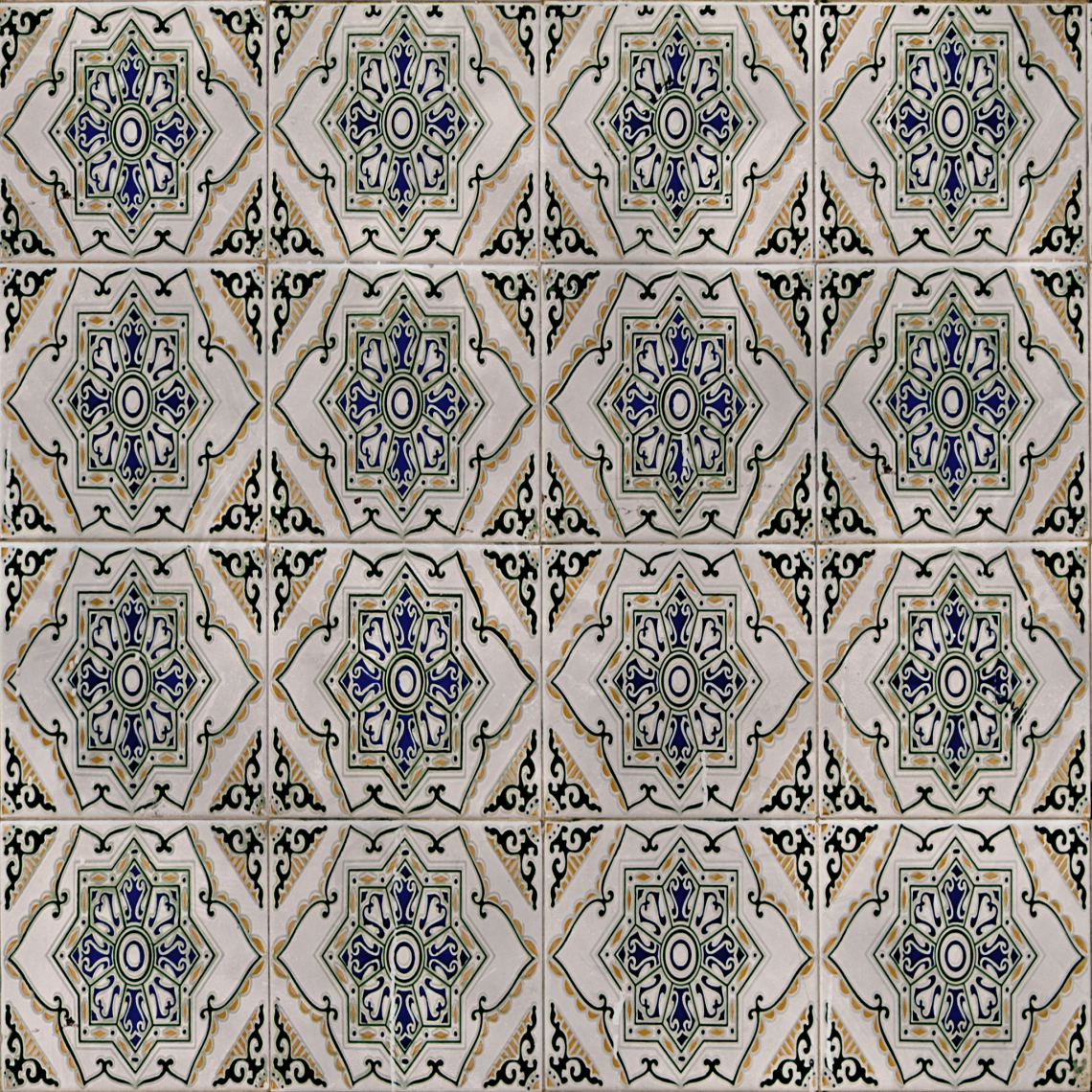 Ornate-Tiles-01-Albedo - Seamless