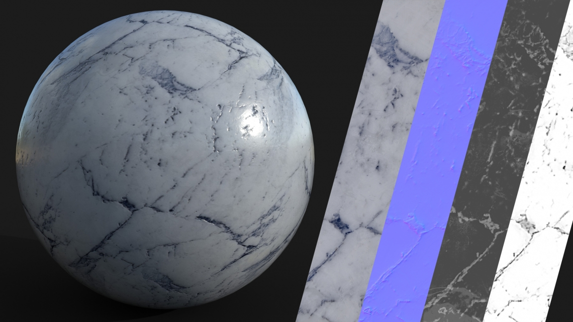 PBR-White-Marble-03-Cover - Seamless