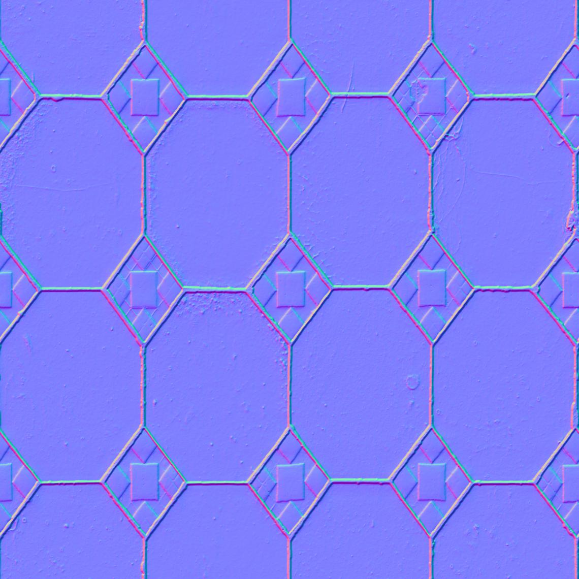 Ornate-Tiles-02-Normal - Seamless