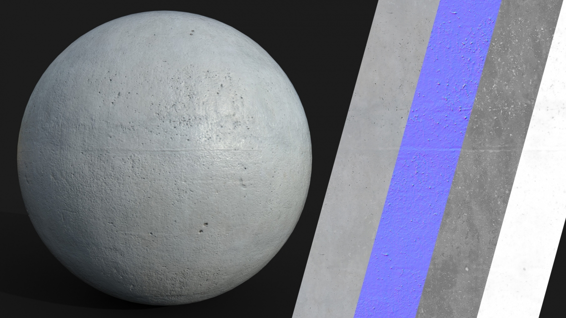 PBR-Concrete-Plain-07-Cover - Seamless