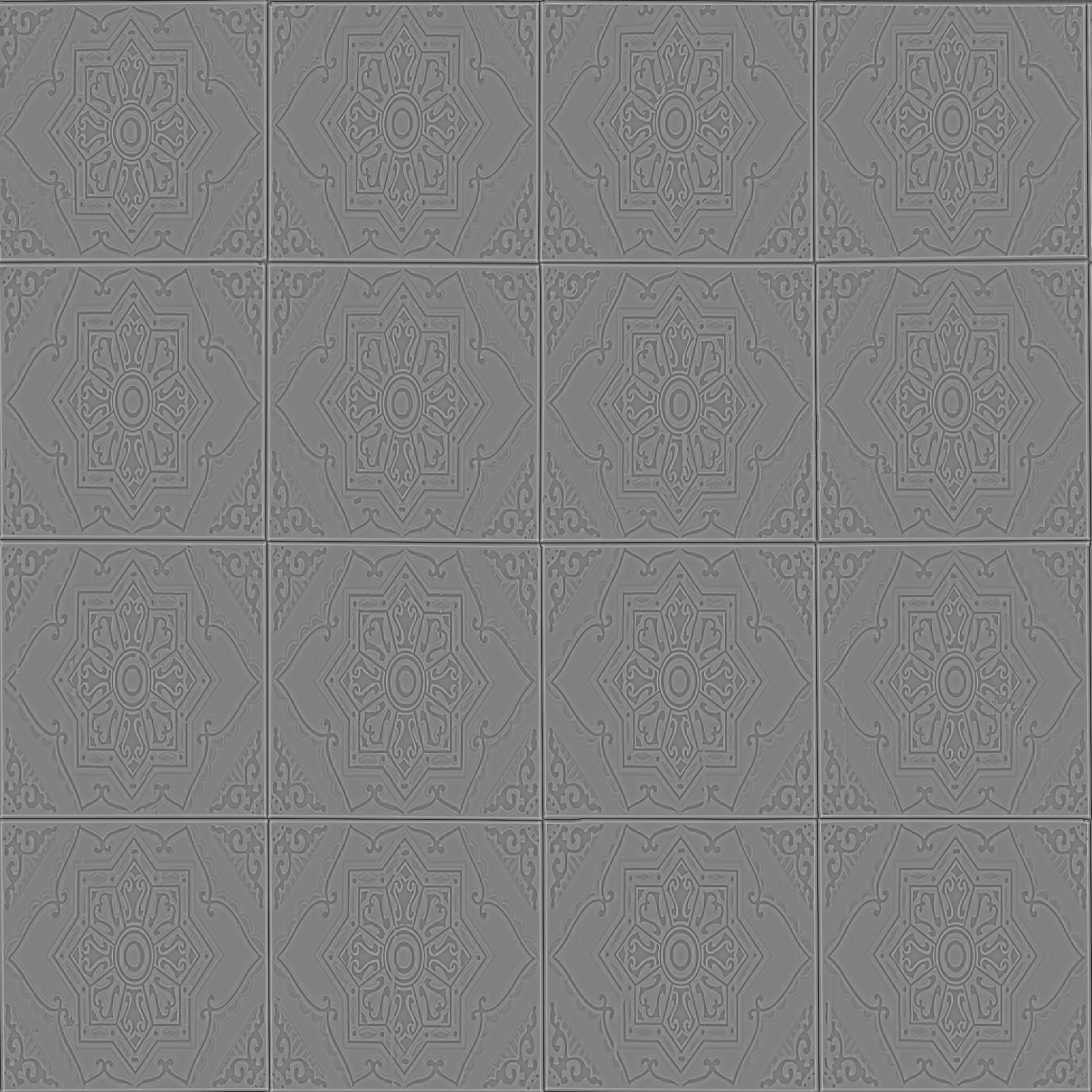 Ornate-Tiles-01-Curvature - Seamless
