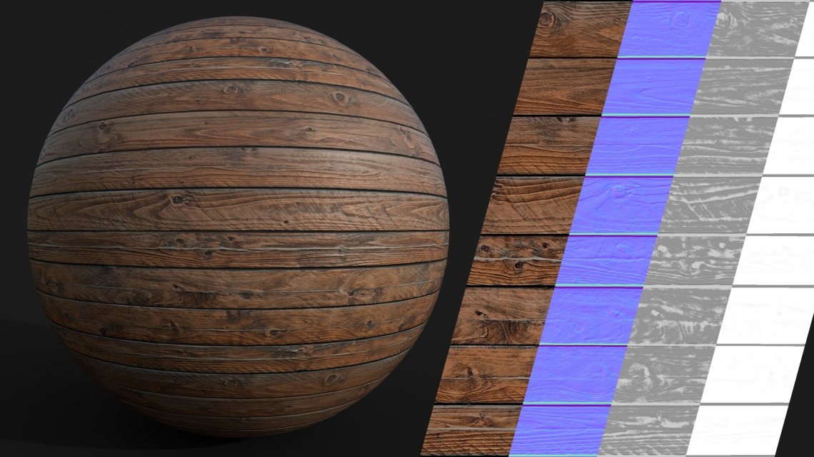 PBR-Planks-Wooden-02-Cover - Seamless